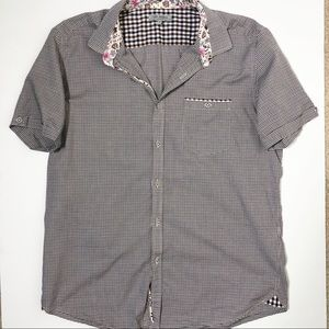 Ted Baker Short Sleeve Button Front Check Shirt 5